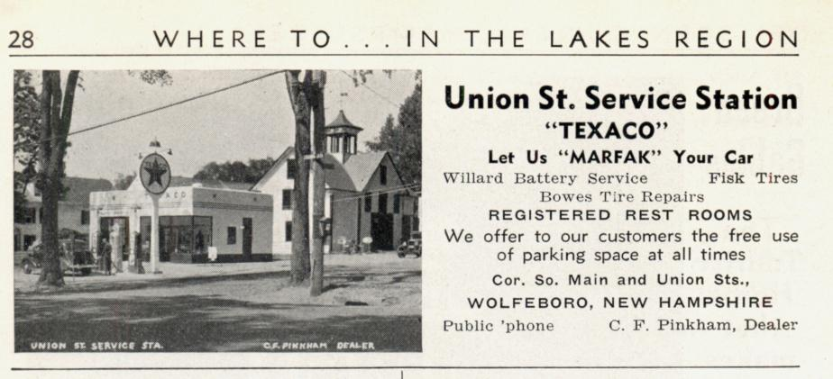 Union Street Service Station - Wolfeboro NH 1939