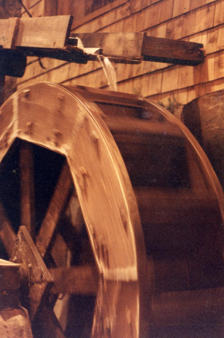 Grist Mill Water Wheel - Heritage New Hampshire - Glen NH