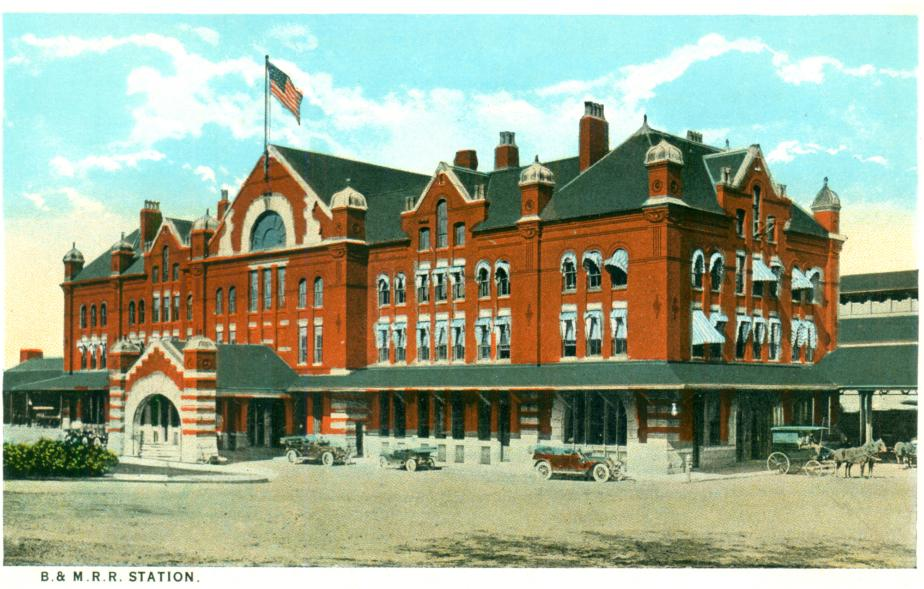 B M Rr Station Concord Nh 1930