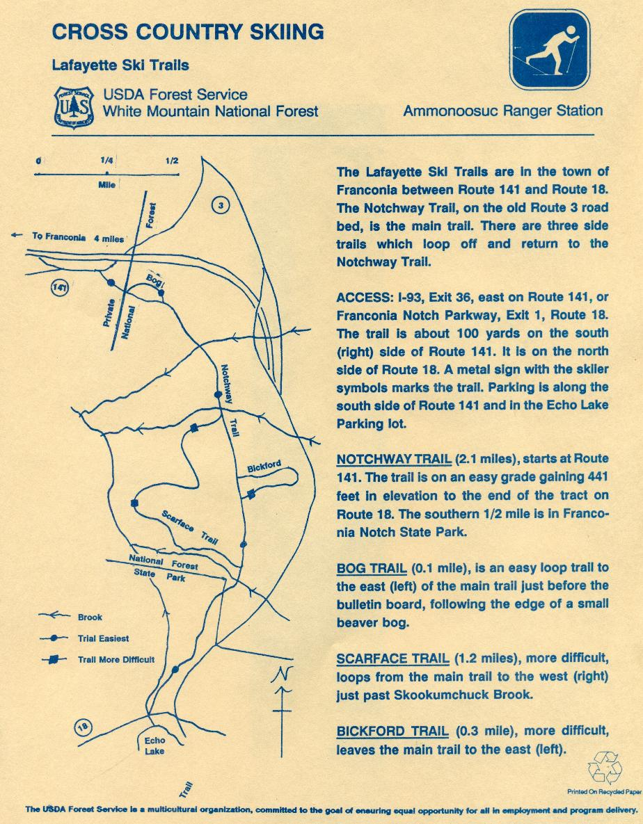 White Mountain Cross Country Ski Trail Maps