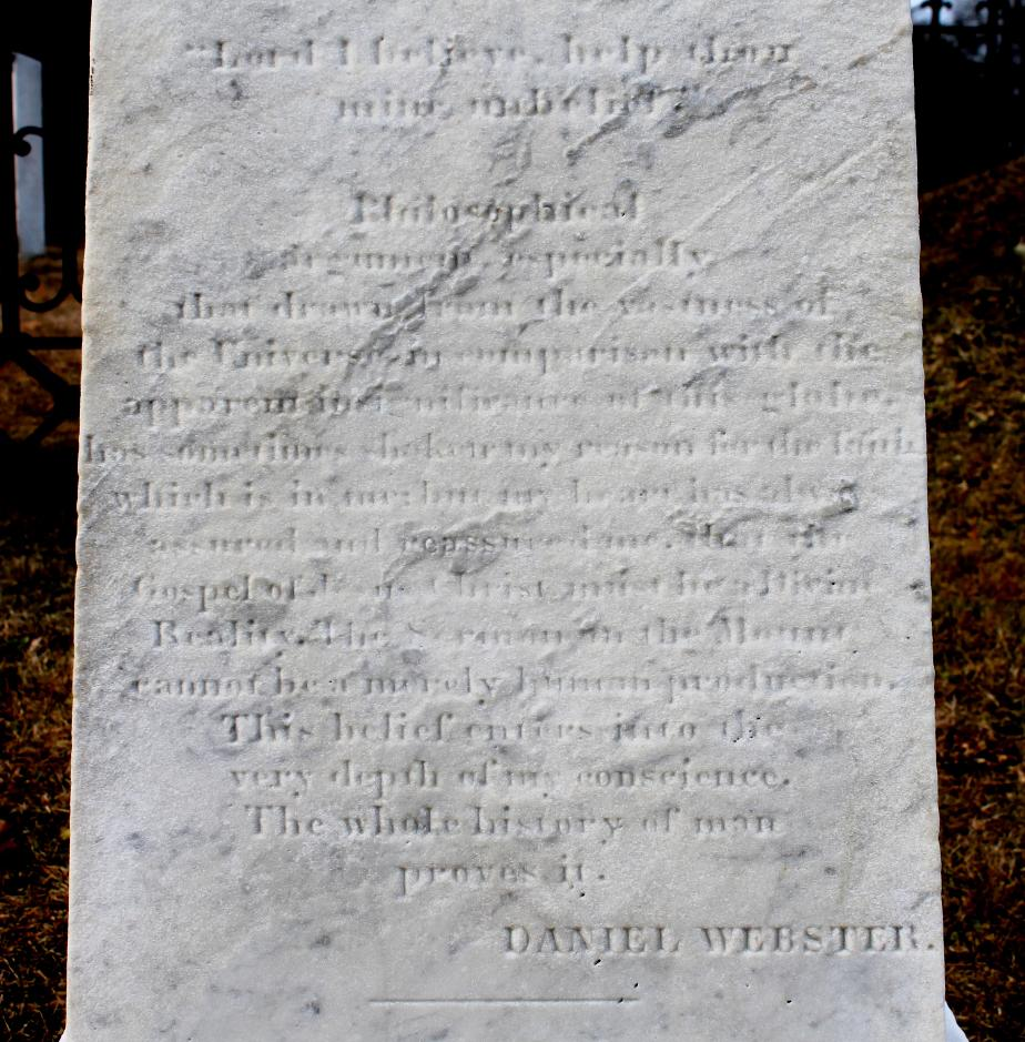 Daniel Webster Gravesite - Marshfield Massachusetts
