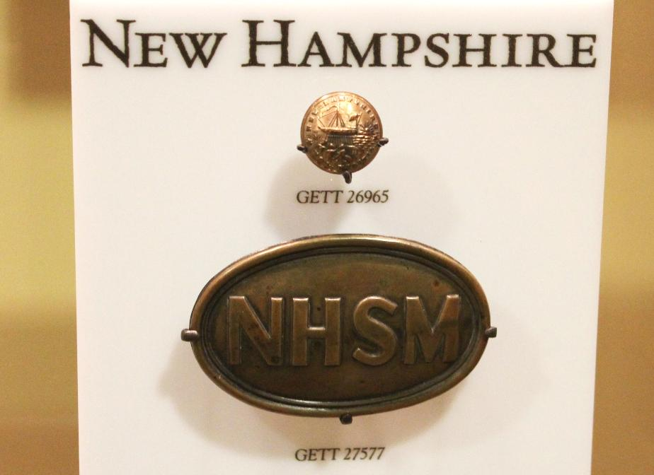 New Hampshire Civil War Uniform Button, Gettysburg