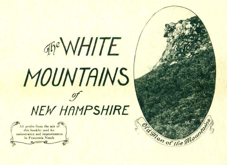 Old Man of the Mountains - Souvenir cover 1933