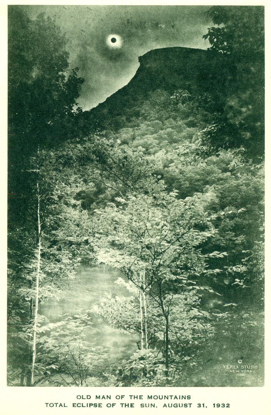 Old Man of the Mountains, Solar Eclipse August 31 1932