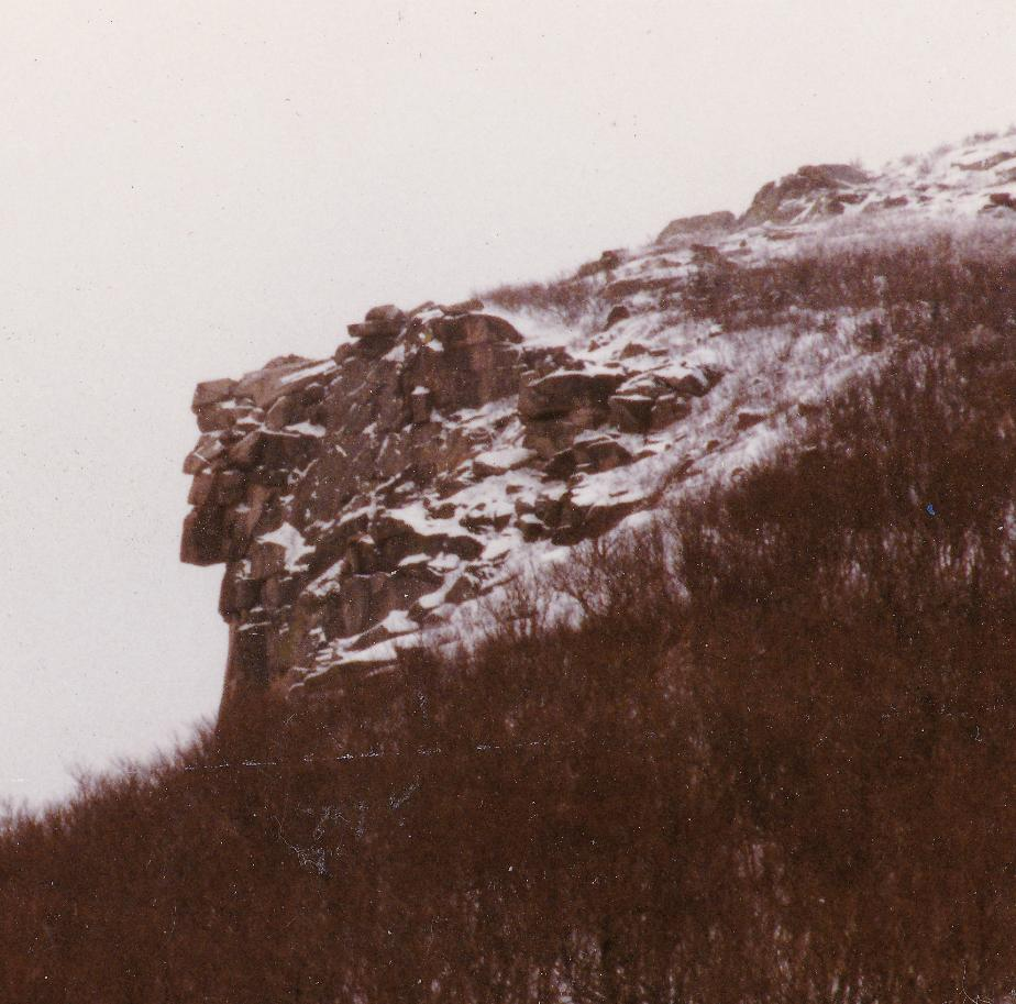 Old Man of the Mountain in Winter