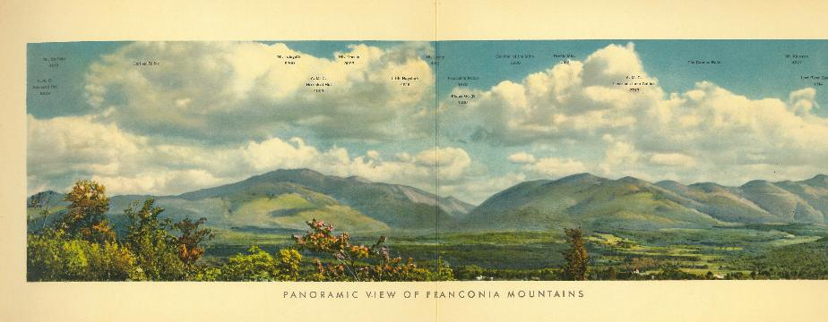Panoramic View of the Franconia Mountains 1933