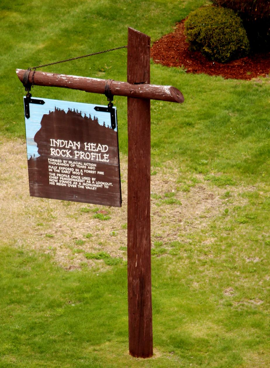 Indian Head Profile Sign, Franconia Notch
