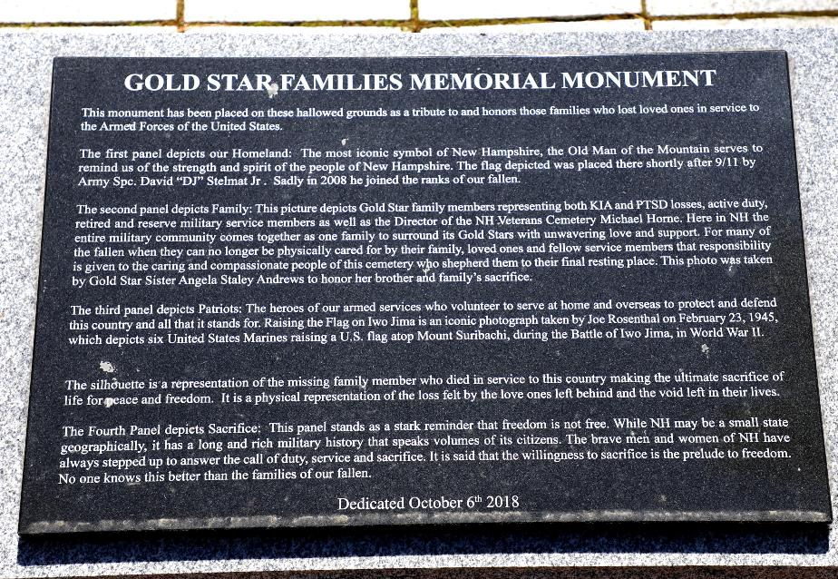 NH State Veterans Cemetery - Gold Star Families Memorial