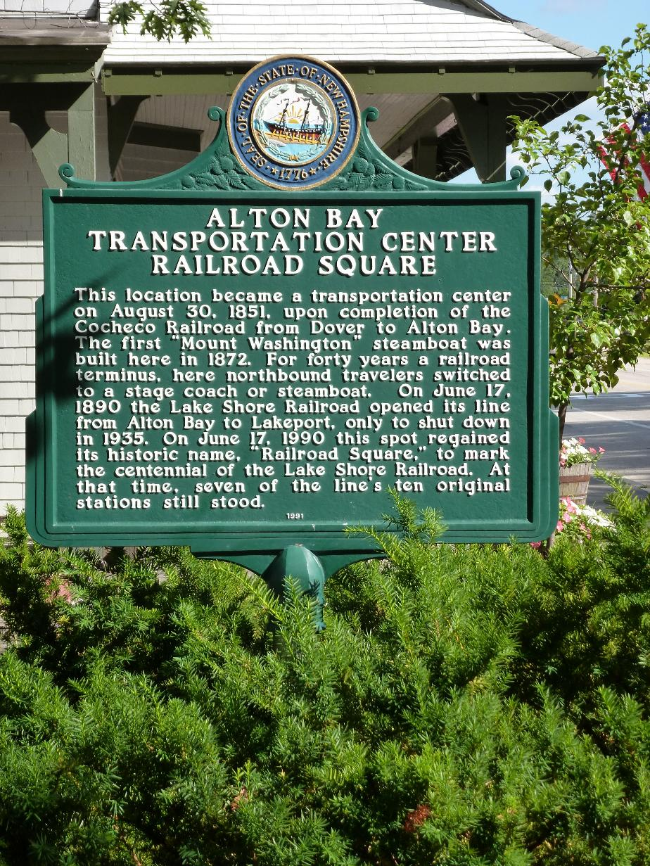 Alton Bay Transportation Center Historical Marker