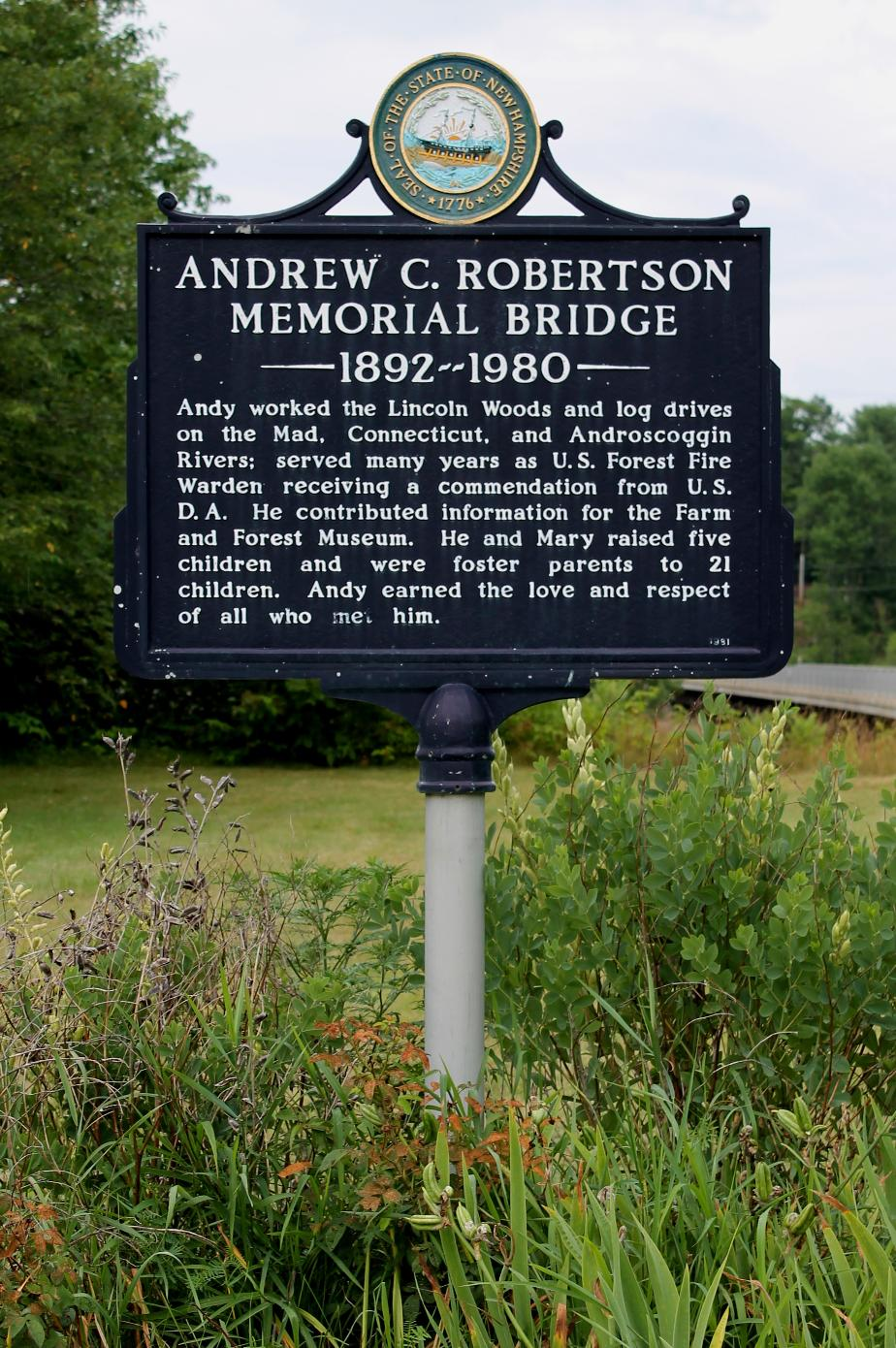 Andrew C. Robertson Memorial Bridge, Thornton NH