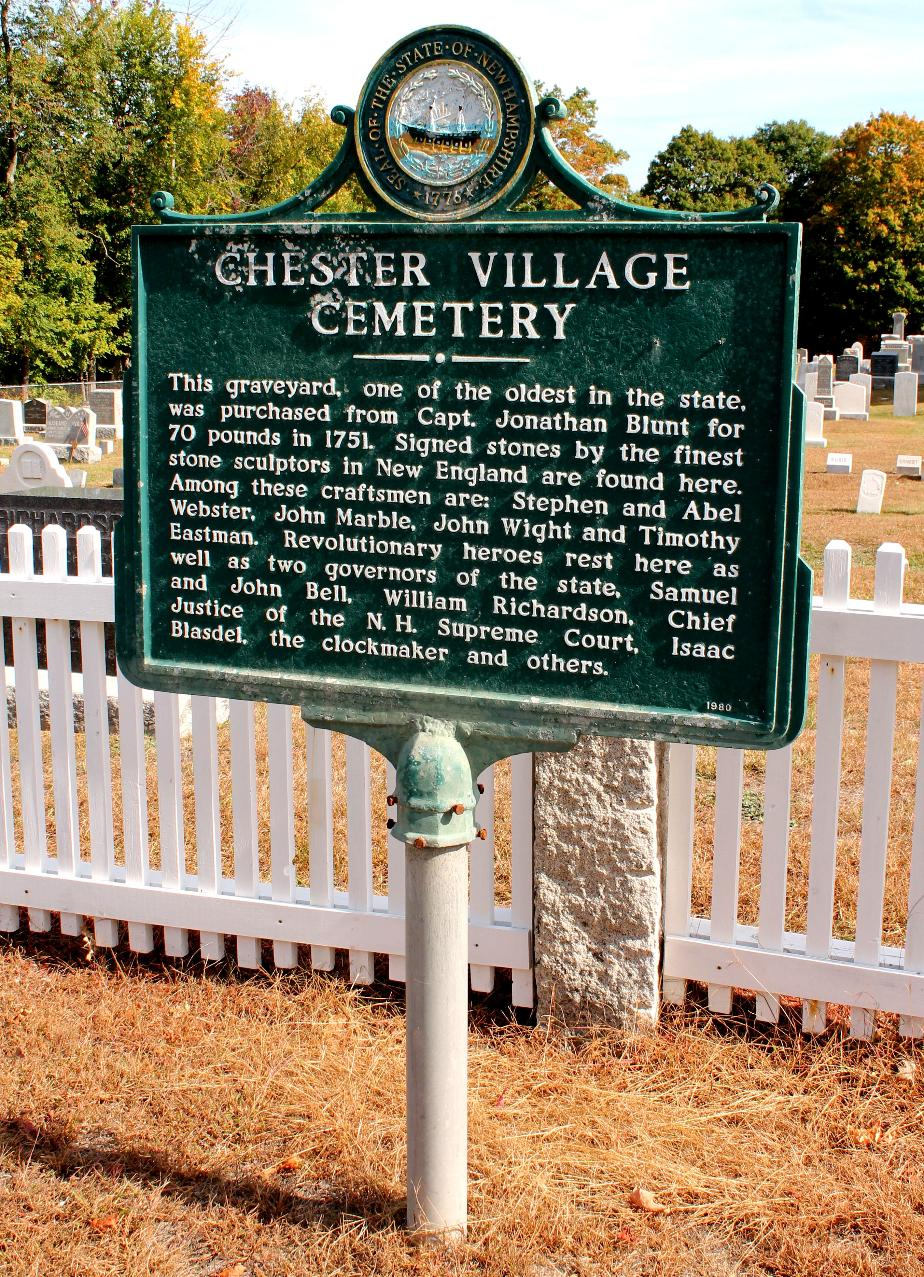 Chester New Hampshire Village Cemeteryy