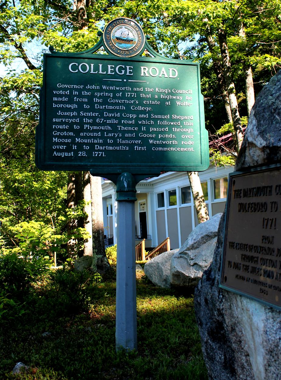 College Road Wolfeboro Nh Historical Marker