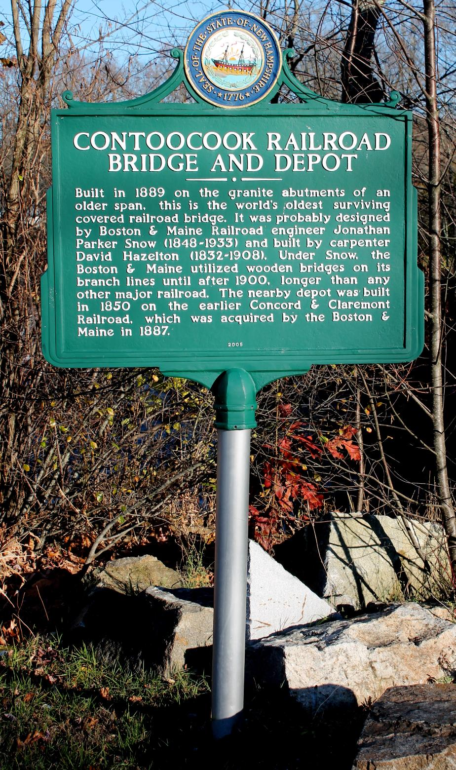 Contoocook NH Railroad Bridge Historical Marker