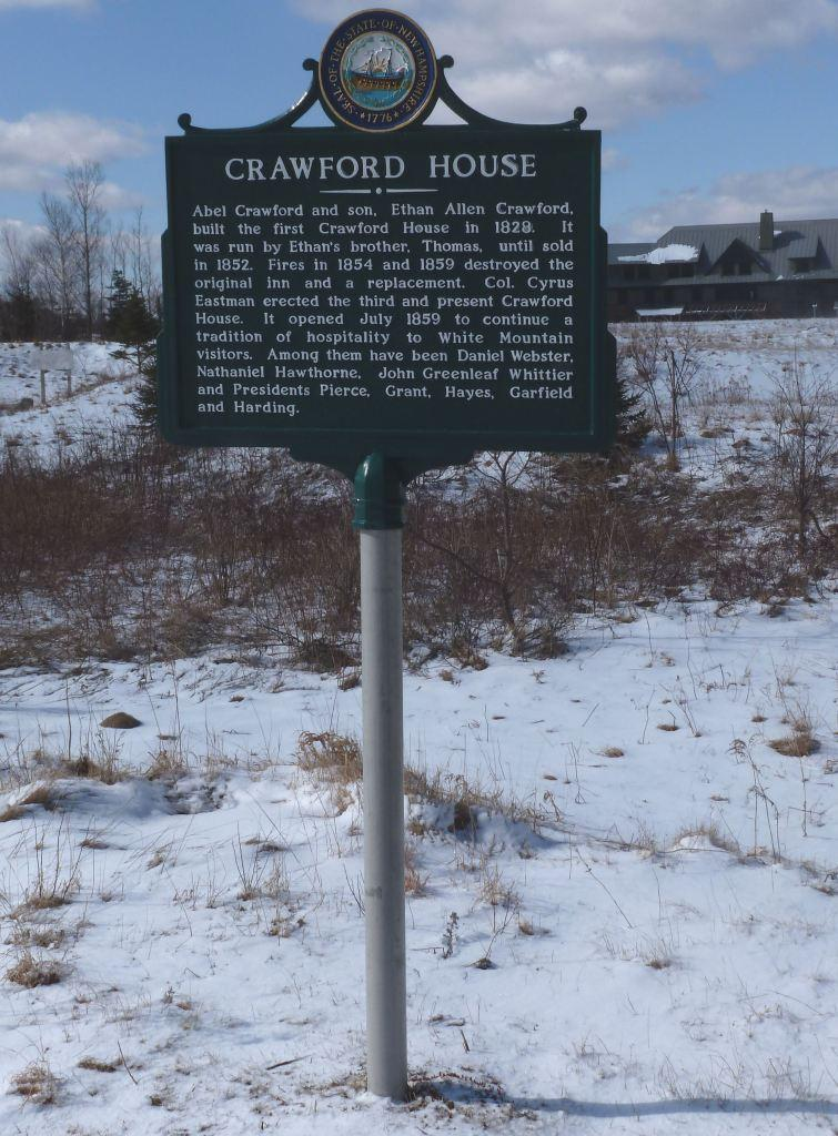 Abel Crawford House Historical Marker