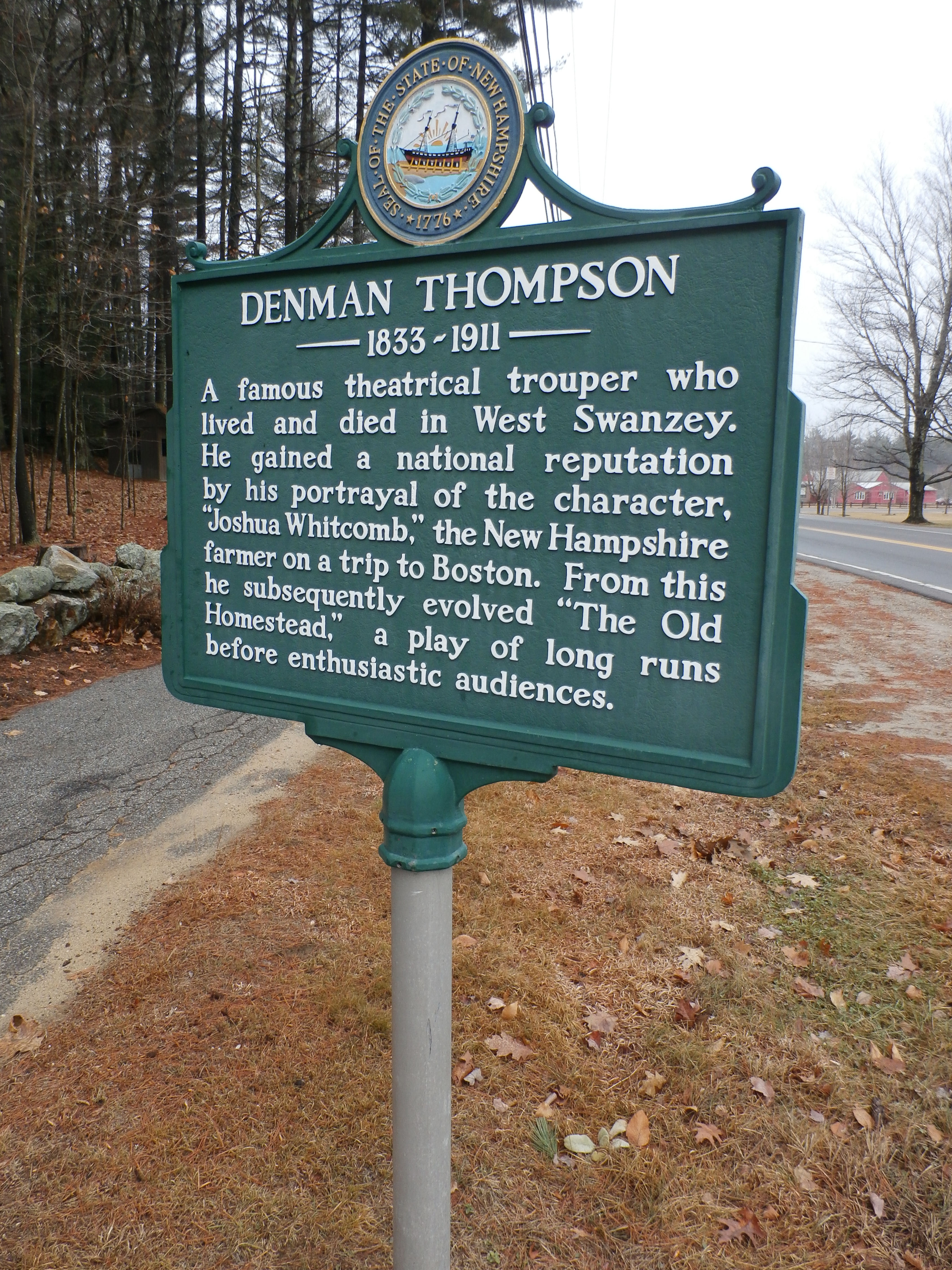 Denman Thompson Historical Marker