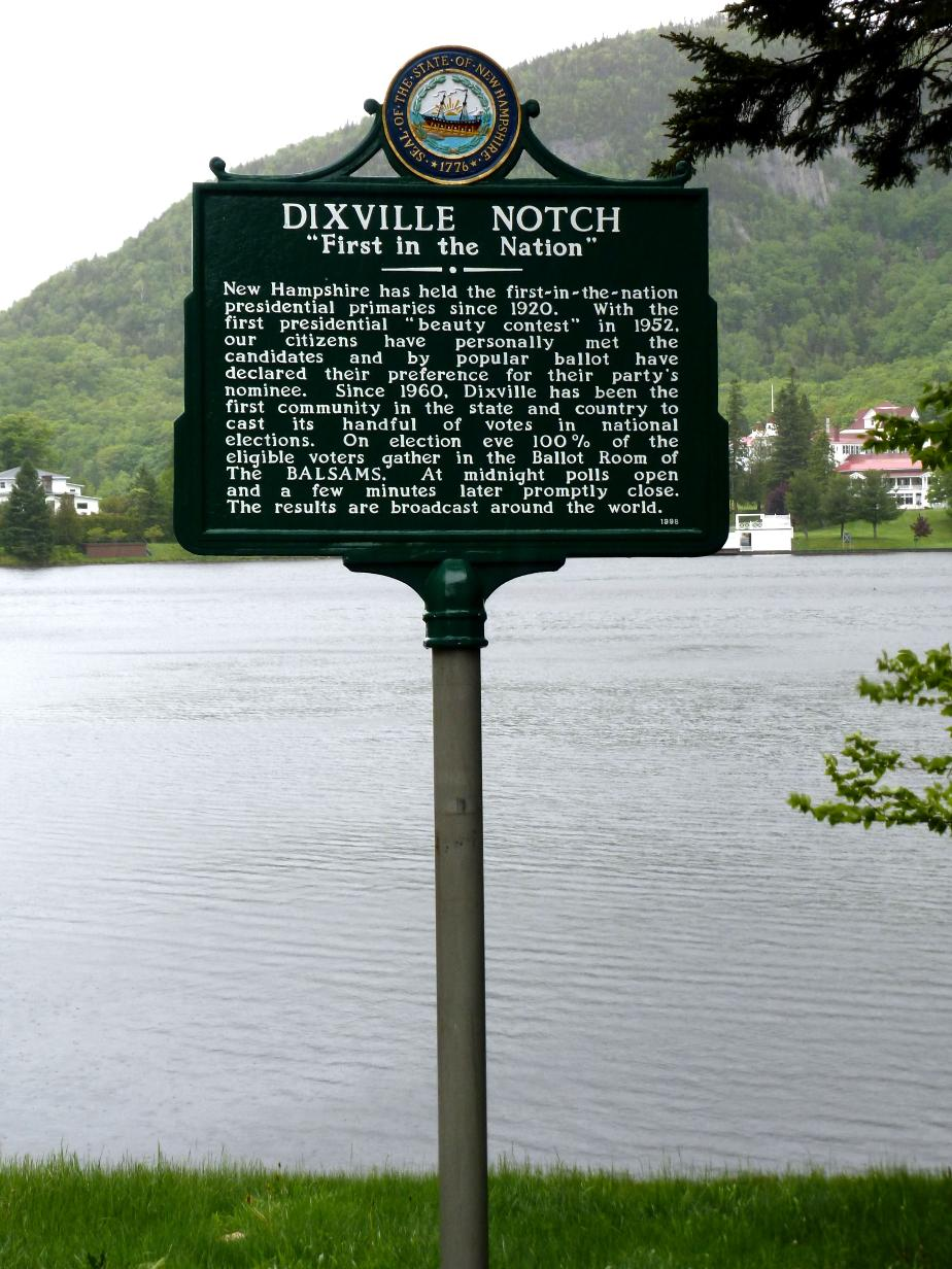 Dixville Notch Historical Marker