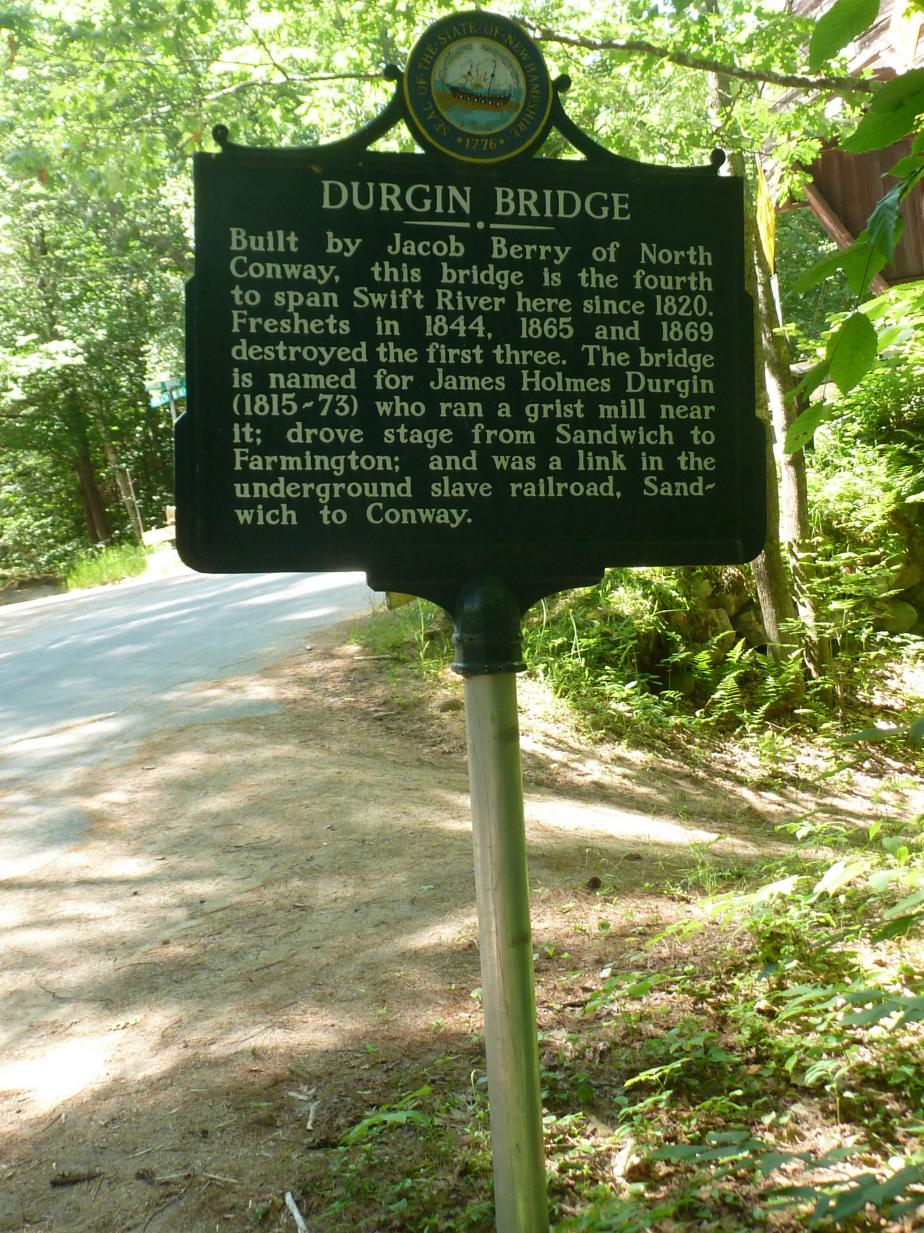 Durgin Covered Bridge Historical Marker