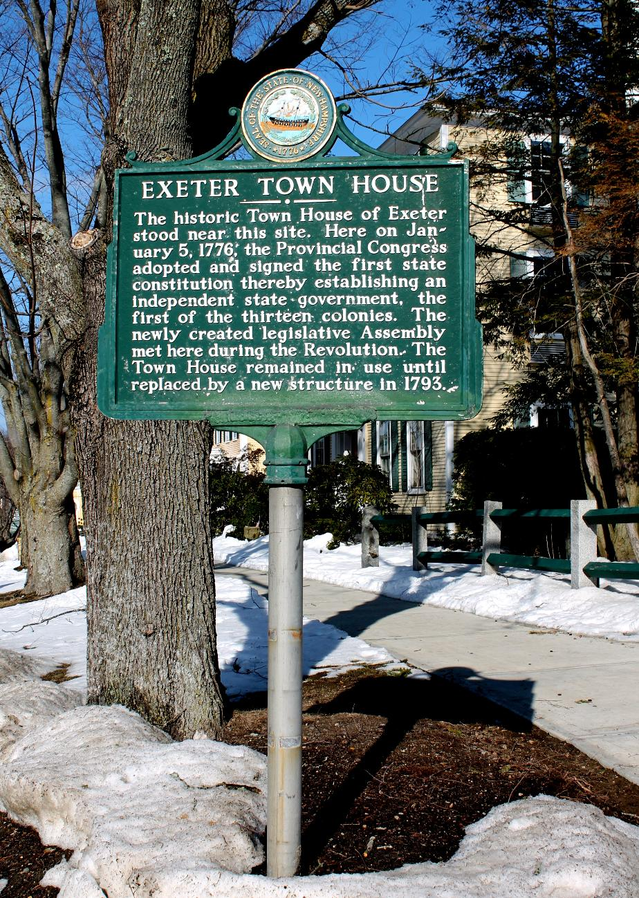 Exeter Town House - NH Historical Marker