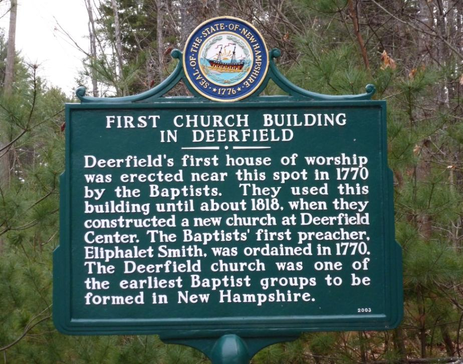 Deerfield New Hampshire First Church