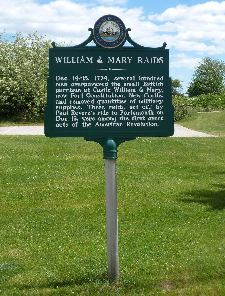 Fort William & Mary Raid Historical Marker