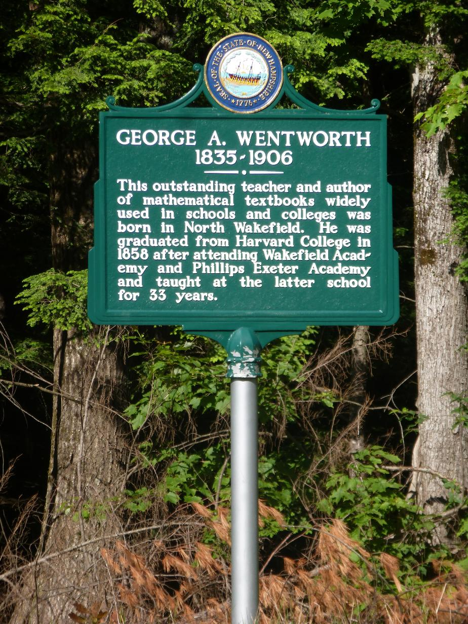 George A Wentworth Historical Marker