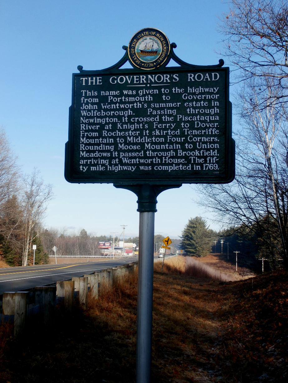 Governors Road Historical Marker