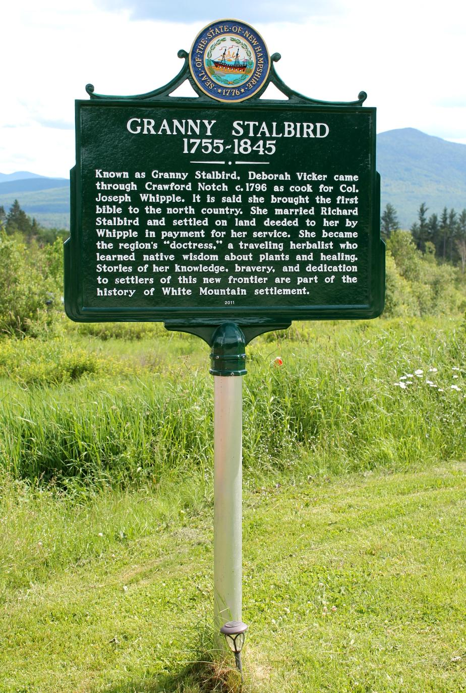 Granny Stalbird Historical Marker - Jefferson NH