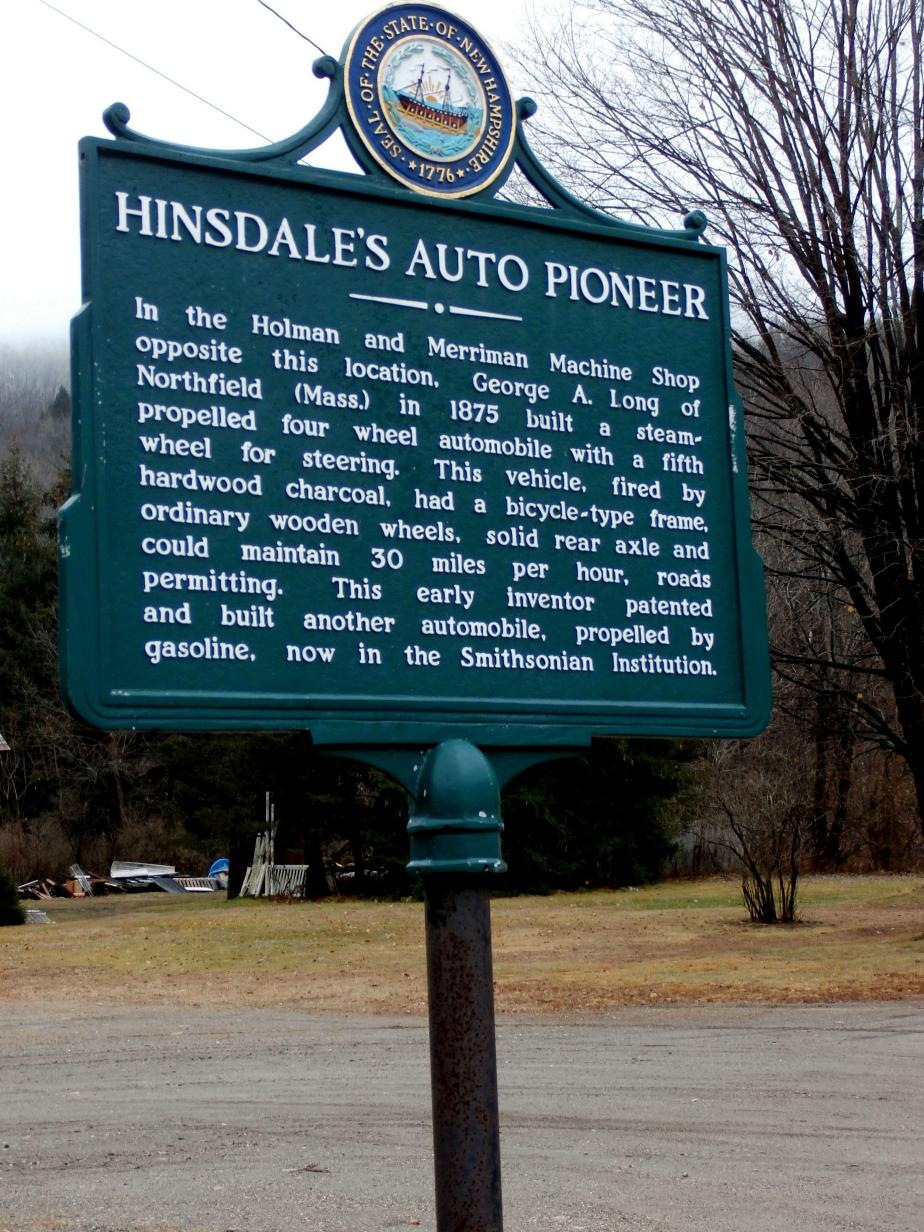 Hindsdale Auto PIoneer Historical Marker