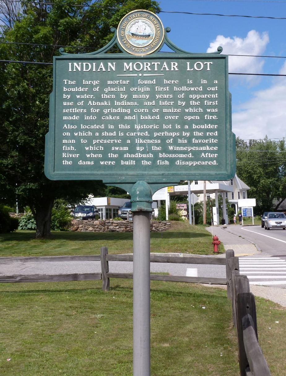Indian Mortar Lot Historical Marker