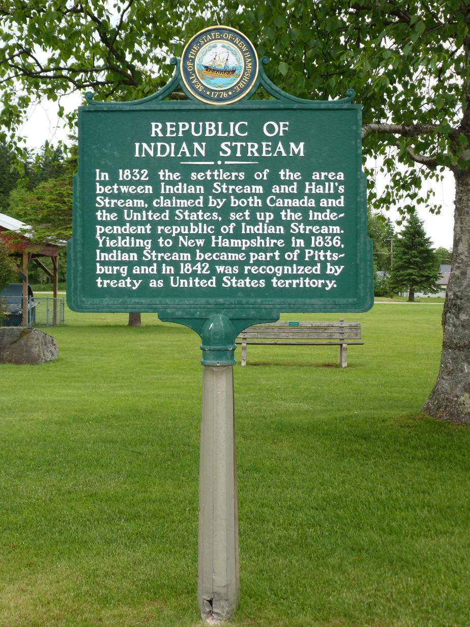 Indian Stream Republic Historical Marker