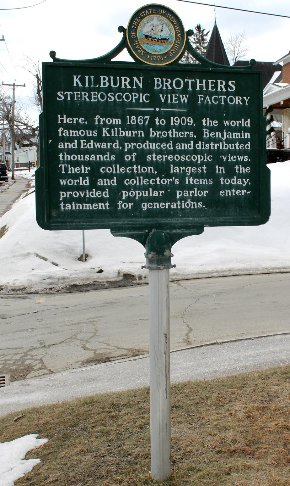 Kilburn Brothers Historical Marker - Littleton New Hampshire