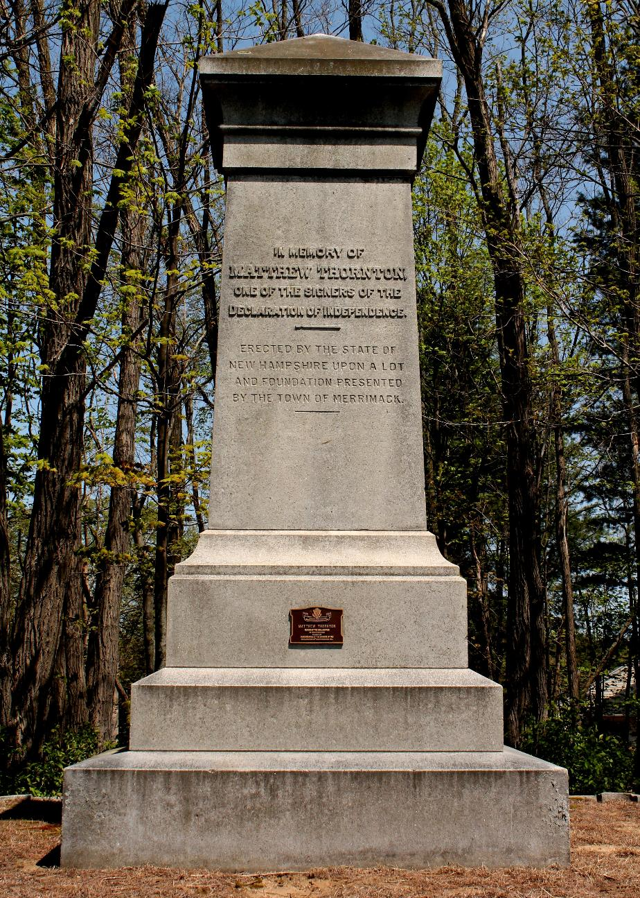 Matthew Thornton Monument - Merrimack NH