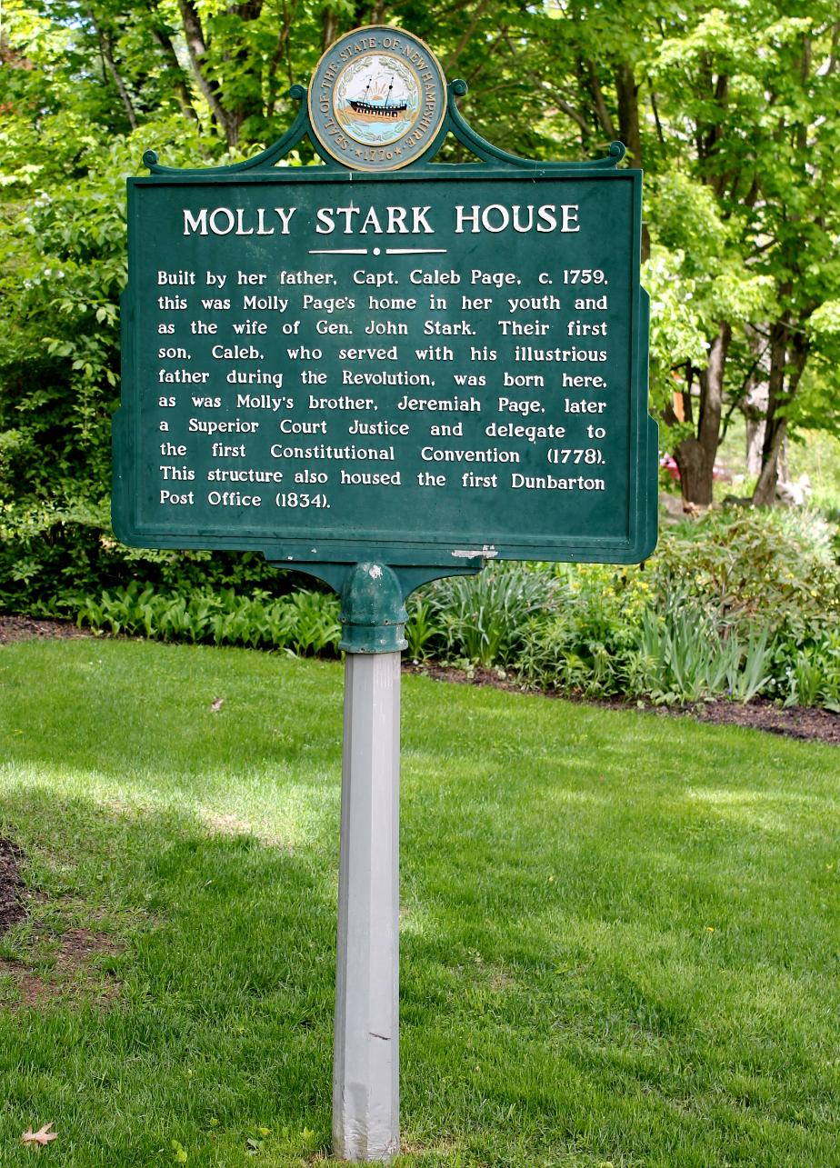 Molly Stark House Historical Marker - Dunbarton NH