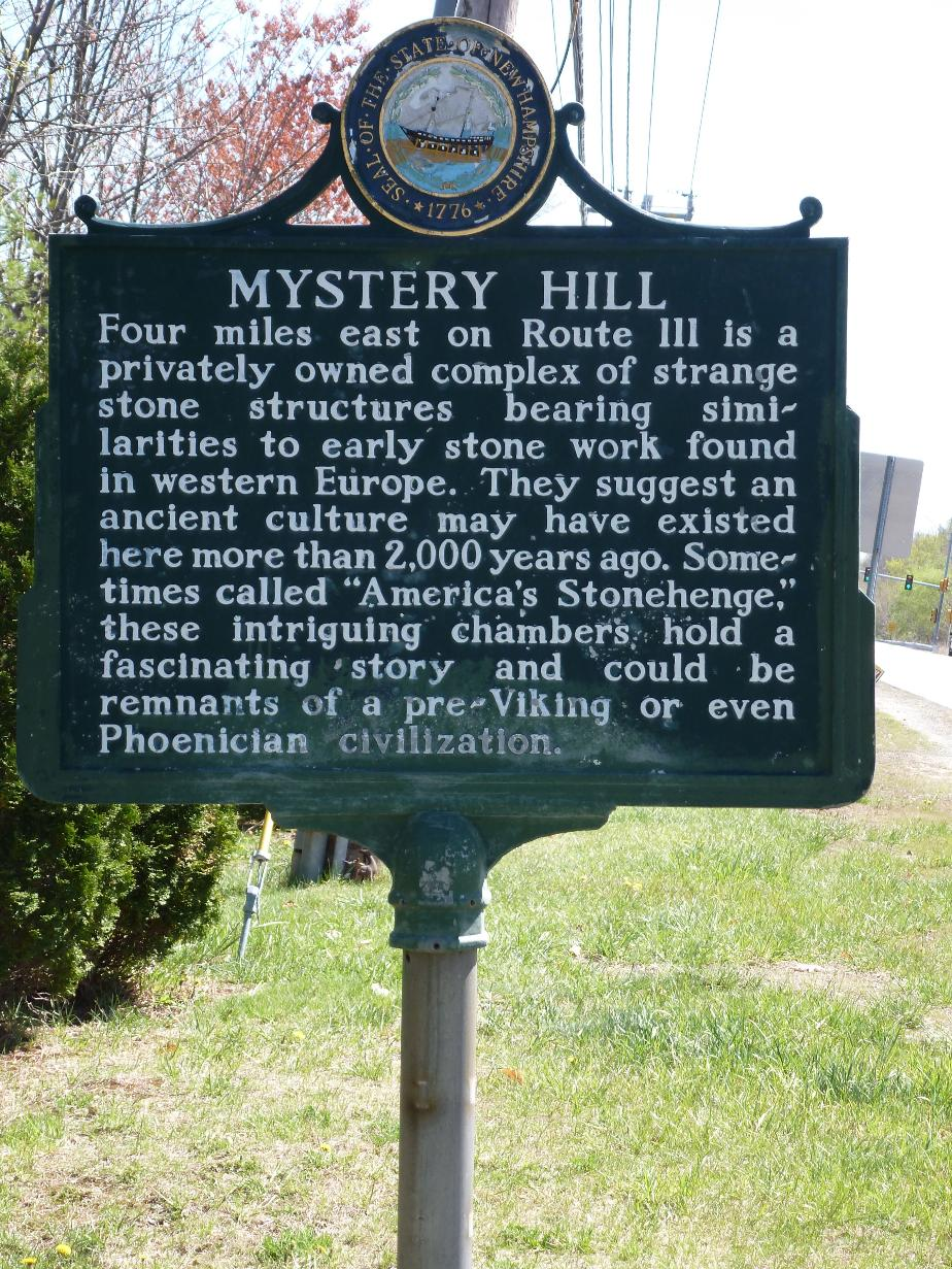 Mystery Hill Historical Marker