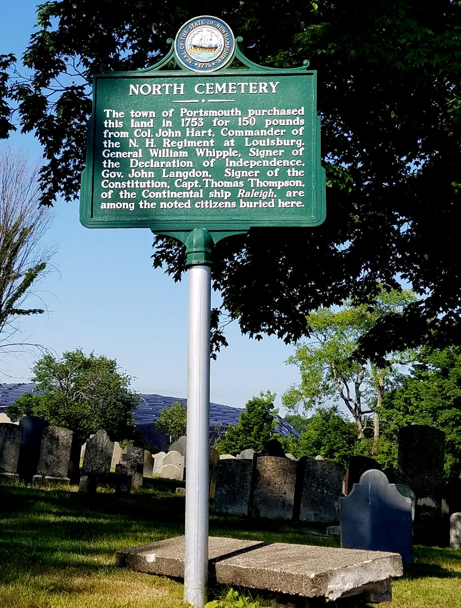 Portsmouth NH North Cemetery Historical Marker