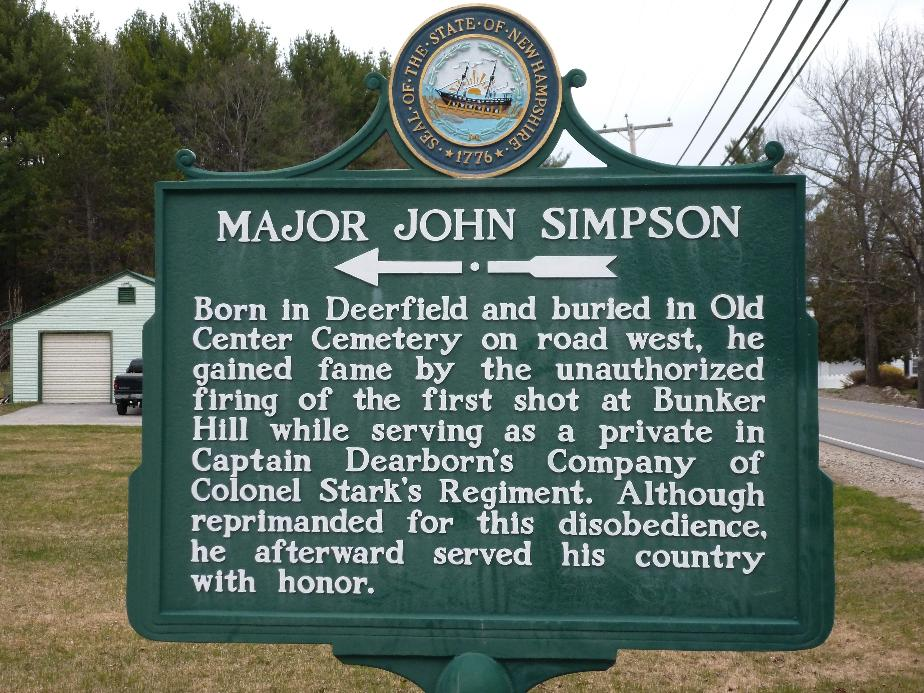 Major John Simpson Historical Marker