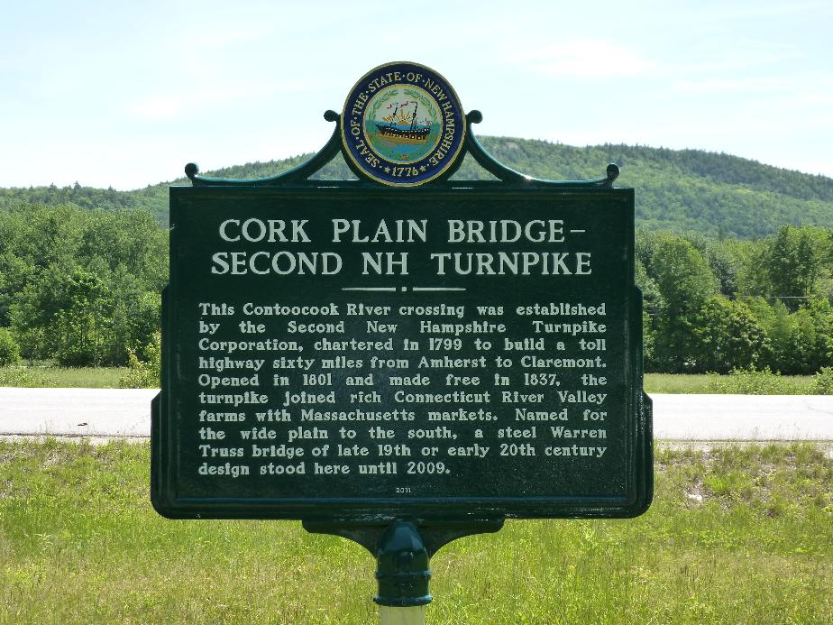 Cork Plain Bridge Historical Marker