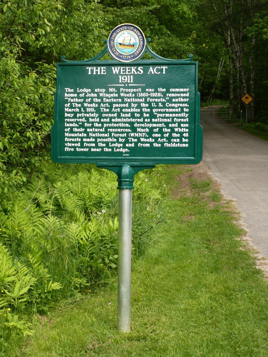 Weeks Act of 1911 Historical Marker