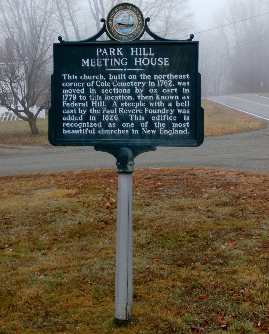 Park Hill Meeting House Historical Marker
