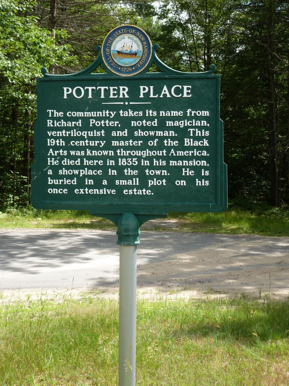 Potter Place Historical Marker