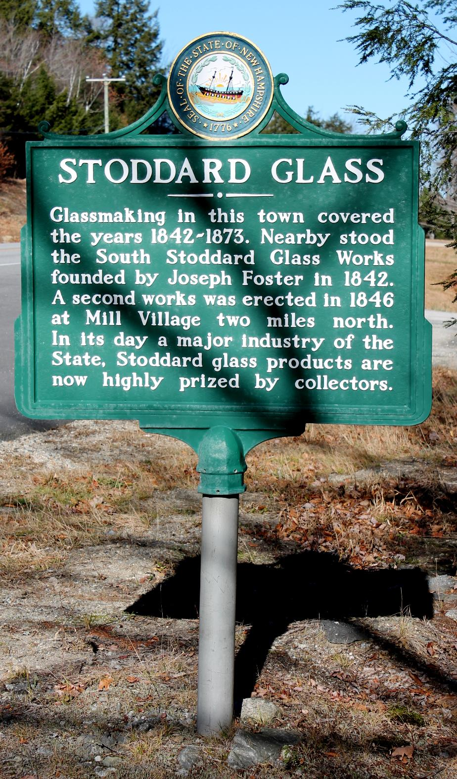 Stoddard Glass Historical Marker