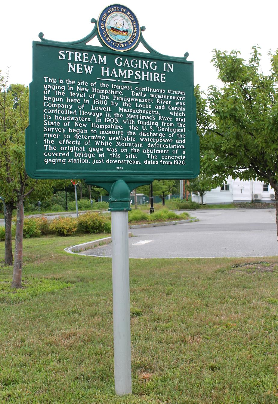 Stream Gaging in NH - Plymouth NH Historical Marker