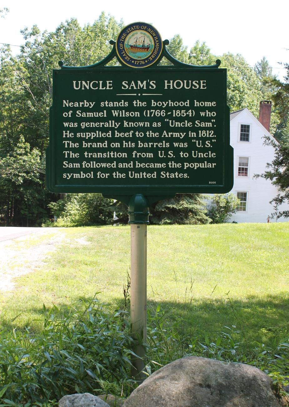 Uncle Sam House Historical Marker - Mason NH