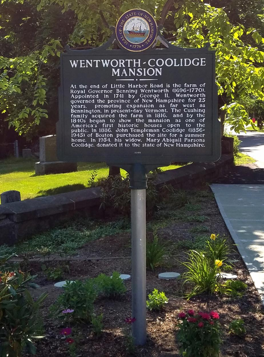 Wentworth Coolidge Mansion Historical Marker