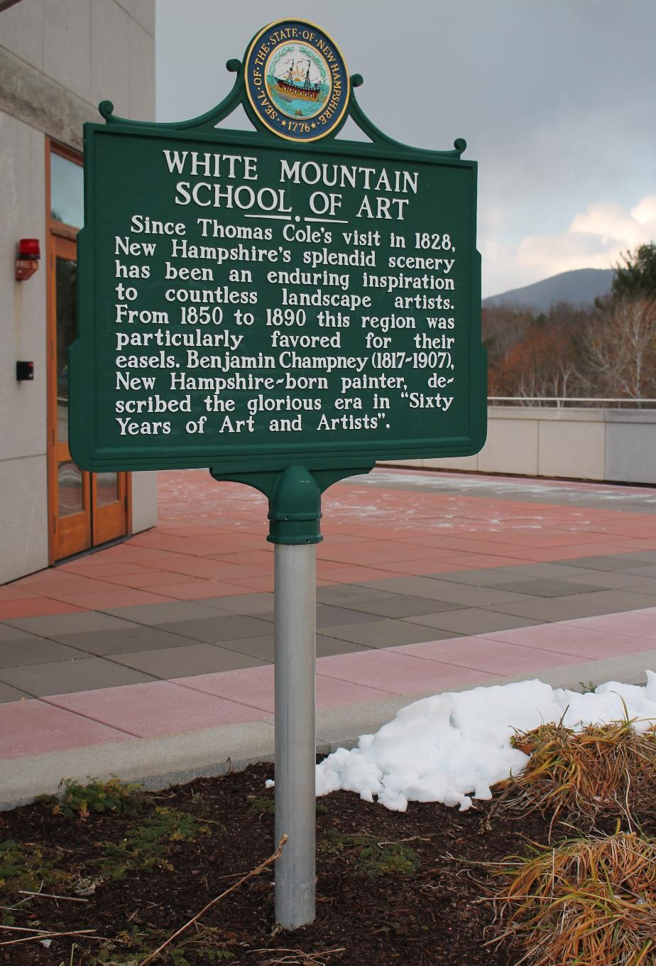 White Mountain School of Art Historical Marker - North Conway New Hampshire