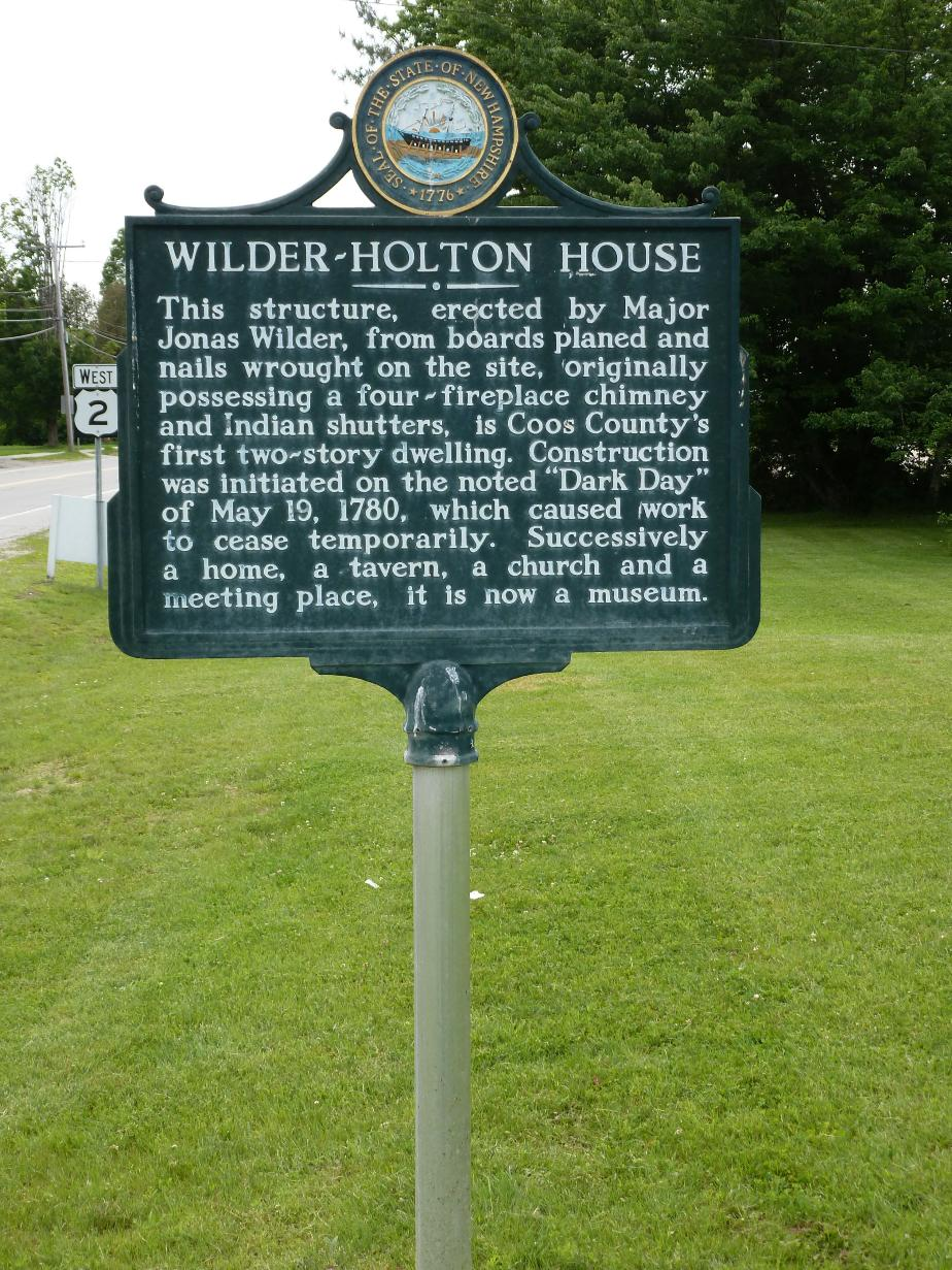 Wilder-Holton House Historical Marker