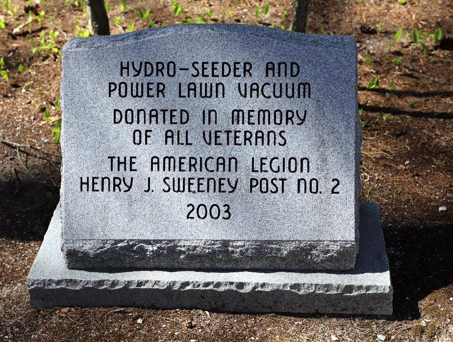 NH State Veterans Cemetery - Hydro Seeder Donation
