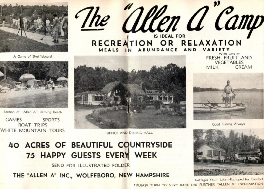 Allen A Camp - Wolfeboro NH 1939