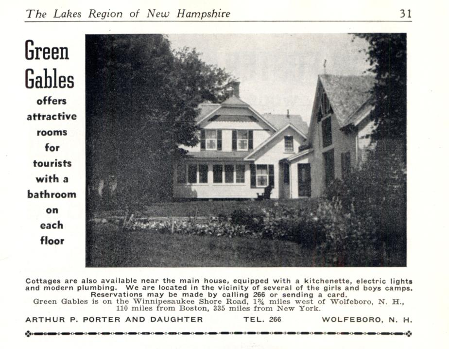 Green Gables Inn - Wolfeboro NH (1940)