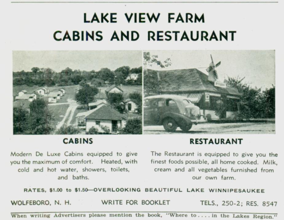 Lake View Farm Cabons and Restaurant - Wolfeboro NH